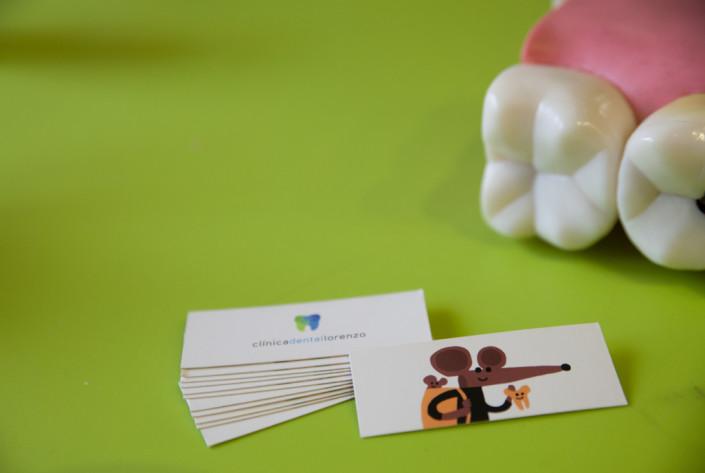 Tarjetas de visita odontopediatría